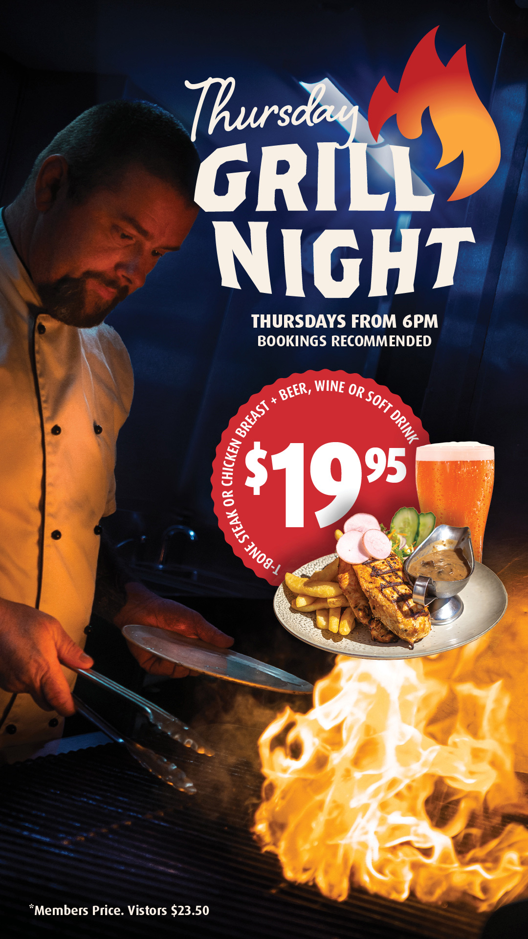 Hot grill and cold beers every Thursday!