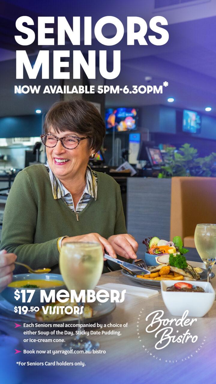 Seniors Menu now available